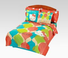 Hello Kitty Bedding Set the beßssssssssssst Hello Kitty Bed, Sanrio Hello Kitty, Full Comforter Sets, Bedding Sets, Pillow Room, Pillow Shams, Cute Bed Sheets, Bed In A Bag, Childrens Beds