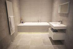 Striped wall tiles – Porcelanosa bathroom Bathroom Inspo, Bathroom Designs, Bathroom Ideas, Porcelanosa Tiles, Bathtub Tile, Striped Walls, Family Bathroom, Laundry Room Design, Wall Tiles
