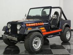 The undisputed king of go-anywhere survivability has to be the Jeep and with collectors discovering that these are seriously fun machines, Jeeps like. Cj Jeep, Jeep Truck, Chevy Trucks, Wrangler Jeep, Pickup Trucks, Cool Trucks, Big Trucks, Gta, Jeep Cj7 Renegade