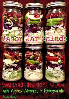 Waldorf Inspired Slaw with Pomegranate