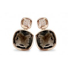 Tirisi Jewelry l TE7031SQP l Pink golden earrings. A beautiful gift.