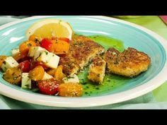 Pui milanez cu salată de busuioc, mozzarella și roșii - YouTube Mozzarella, Milan, Cooking Recipes, Chicken, Youtube, Chef Recipes, Youtubers, Youtube Movies