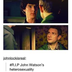 While I don't ship johnlock this is funny