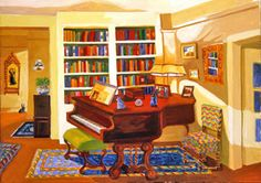 Soulful by Roxa Smith, oil on canvas, 2011 Art Decor, Home Decor, Home Art, Corner Desk, Oil On Canvas, Shelves, House Design, Art Interiors, Paintings