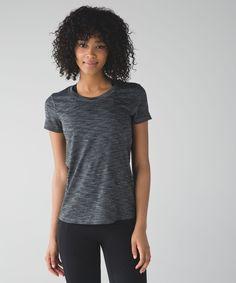 9d6042b0f99 Lululemon Beat The Heat Short Sleeve - Heathered Black   Black