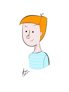 #Character design#1D#made by me#assignment to learn something new everyday#colour of hair#ginger