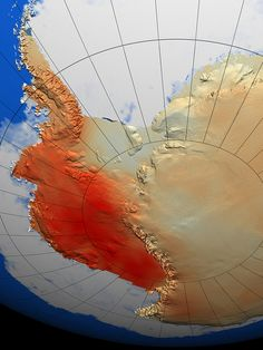 Illustration of temperature change in Antarctica from NASA.