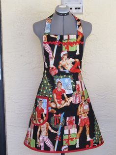Sexy Christmas Hunks Apron Great for Your Kris by ApronsByVittoria, $31.99
