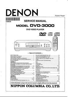 Denon avr x1200w s710w av receiver service manual and repair guide denon dvd 3000 service manual fandeluxe Gallery