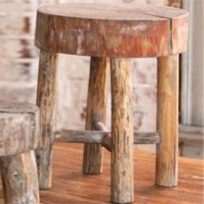 Antiqued Milking Stool - Tall    $38.00 @ http://www.antiquefarmhouse.com/current-sale-events/cattle.html
