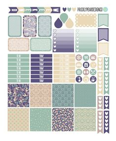 PRINTABLE Horizontal Erin Condren Life von PricklyPearDesignCo: