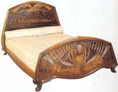 Art nouveau moth bed