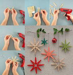 Christmas Bazaar Crafts, Christmas Ornament Crafts, Christmas Gift Wrapping, Christmas Crafts For Kids, Handmade Christmas, Christmas Fun, Holiday Crafts, Christmas Decorations, Cork Christmas Trees