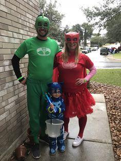 DIY Family PJ Masks Halloween costumes (well cb3c7a9635ab