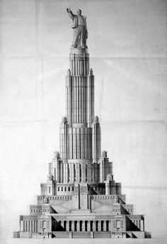 Palace of the Soviets c. 1937, Boris Iofan