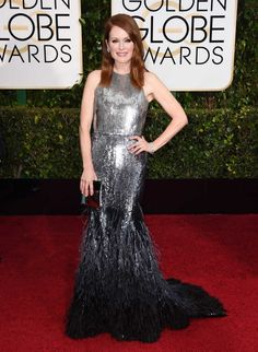 Julianne Moore Red carpet arrivals at the 72nd Annual Golden Globe Awards.