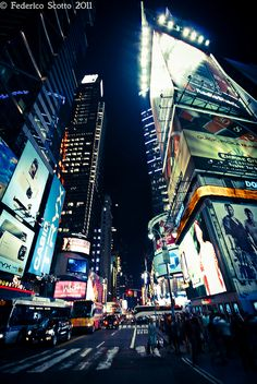 NYC by night by FedeSK8, via Flickr