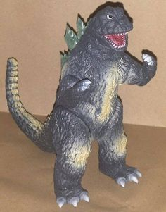 Y-MSF Godzilla 1965 with clear dorsal fin 6 inch figure, Tempting . Godzilla, Charcoal Gray, Dinosaur Stuffed Animal, Toys, Animals, Activity Toys, Animales, Animaux, Clearance Toys