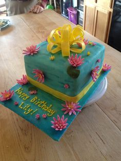 Water lily cake I made!
