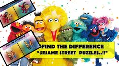 """FIND THE DIFFERENCE """"SESAME STREET  PUZZLES..!!""""    US POPULAR KIDS SHOW... Animated Cartoons, Cool Cartoons, Popular Kids Shows, Cartoon Fun, Fun Quizzes, Climbers, Different, Puzzles, Animation"""