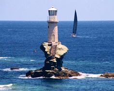 A wonderful picture of the Tourlitis lighthouse in Andros Island!