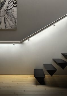 Floating stairs #staircase
