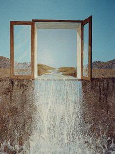 La llegada del Agua. 1996. 20x25 cm. Acrílico sobre cartón Bristol.