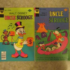 Whitman Walt Disney Uncle Scrooge Comic Books No. 133 and No. 144 by AuctionAddict38 on Etsy