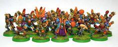 High Elf blood bowl team