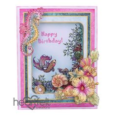 Gallery | Seashell Birthday Shaker Card - Heartfelt Creations