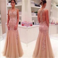 Tulle Sexy Off Shoulder Mermaid See-through Back Newest Evening Long Prom Dress, PD0134