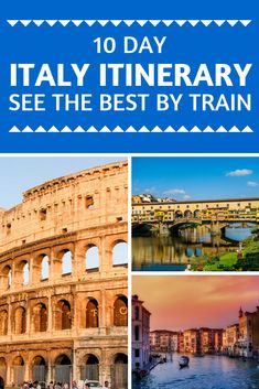 Limited time in Italy? This 10 day Italy itinerary takes in three major cities and allows time to enjoy a few day trips too. See the best of Italy by train! World's Smallest Country, 10 Days In Italy, Italy Travel Tips, Travel Destinations, Italy Train, Europe Train, Best Of Italy, Italy Holidays, By Train