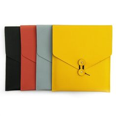 Envelope iPad Case   Inspired by traditional manila envelopes this iPad case channels fun but also function with its bold colors and clean design.
