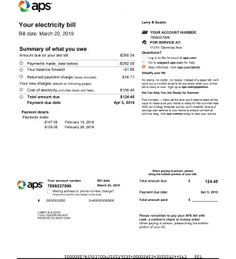 APS, Arizona Public Service Duke Energy, Energy Bill, Drivers License California, Bill Template, Psd Templates, Drivers License Pictures, Electricity Bill Payment, Gas Bill, Cable Internet