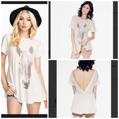WILDFOX Mini Tunic Eyelet White Cape Dress NWT NWT Oversized comfy soft and SOLD OUT EVERYWHERE  Color is Vintage Lace.  Pastel. Chiffon like overlay. Pleated Maxi Tunic Dress. Wildfox Tops