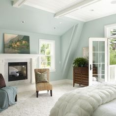 8 Benjamin Moore Paint Colours for a Bedroom | Toni Schefer Design  Woodlawn Blue