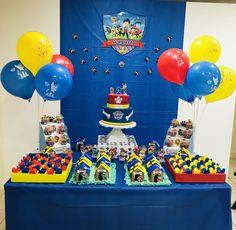 Paw Patrol Birthday Decorations, Paw Patrol Birthday Theme, First Birthday Party Decorations, 3rd Birthday Parties, The Good Dinosaur, Candy Party, Caillou, Bernardo, Party Time