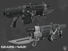 ArtStation - Gears of War 3 Weapons, Pete Hayes