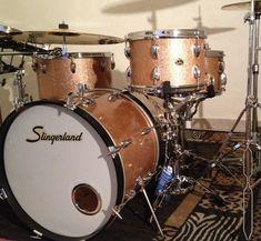 Drums Slingerland 1962, Champagne Sparkle, maple.