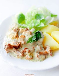 Schab gotowany w sosie kurkowym - pychota