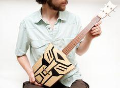 "Paul Celentano - ""Autobot Transformer ukulele"""