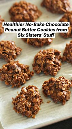 Healthy Cookies, Healthy Sweets, Healthy Baking, Best Cookie Recipes, Fudge Recipes, No Bake Cookies, Yummy Cookies, Healthy Desserts, Healthy Recipes