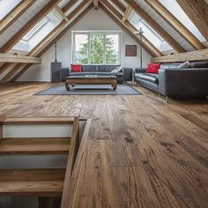 Home Bedroom Attic Loft conversion Design Contemplation Floor Wood Attic Master Bedroom, Attic Bedroom Designs, Modern Master Bedroom, Attic Design, Attic Rooms, Attic Spaces, Attic Playroom, Bedroom Loft, Interior Design