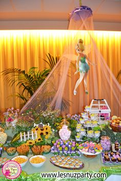 Se nos ha casado un hada, mesa dulce Campanilla - A fairy got married - Wedding Tinkerbell Sweet Table