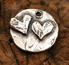 Acts of Kindness Heart Charm in Sterling Silver 49 by cathydailey, $12.09