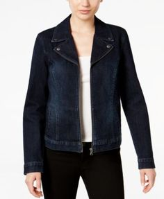 Style & Co. Denim Moto Jacket, Only at Macy's