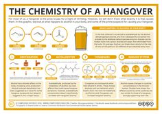 The Chemistry of a Hangover Infographic. If you have ever had a pounding head…