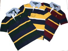 Ralph Lauren Polo Boys Everyday Cotton Rugby Collar Multi Striped Shirt NWT  #RalphLauren #Everyday
