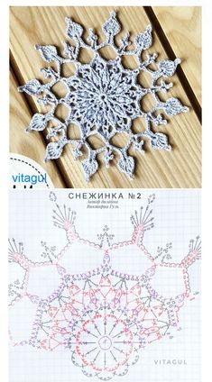 Crochet Snowflake Pattern, Crochet Lace Edging, Christmas Crochet Patterns, Crochet Snowflakes, Thread Crochet, Irish Crochet, Crochet Doilies, Crochet Hooks, Knit Crochet