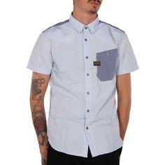 G-star Mens Recruit Lawrence S Blue/Laundry G-star. Blue/Laundry. S. dress-shirts.  #G-Star #Apparel